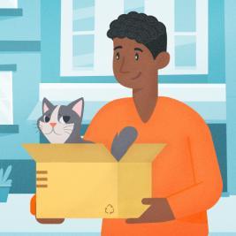 Mudándote a una nueva casa con tu gatito