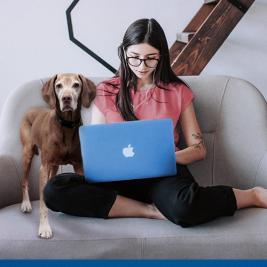 Tips para trabajar desde casa cuando tienes perro